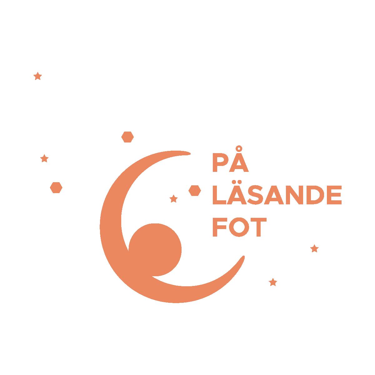 Logo på läsande fot orange