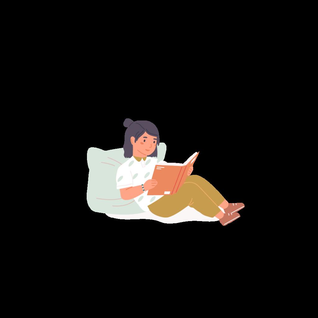 Ett barn som läser